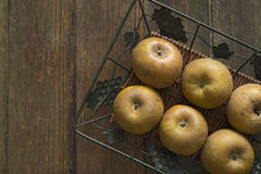 Egremont russet apples Stock Photo