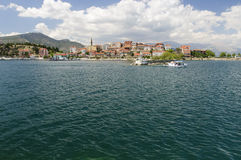 Egridir lake and town Stock Photography
