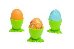 Tres egs de Pascua aislados Imagen de archivo libre de regalías