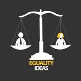 Eguality-Ideendesign lizenzfreies stockbild