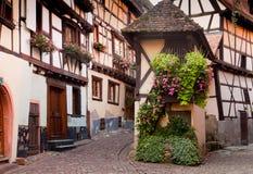 eguisheim村庄酒 库存照片