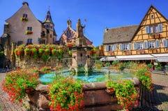 Eguisheim, Эльзас, Франция Стоковое фото RF