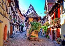 Eguisheim Alsace, Frankrike Royaltyfri Foto