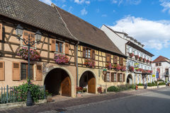 EGUISHEIM, FRANCE/ EUROPE - SEPTEMBER 23: Architecture of Eguish Stock Photos
