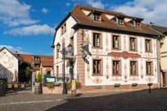 EGUISHEIM, FRANCE/ EUROPE - SEPTEMBER 23: La ferme du Pape Hoste Royalty Free Stock Photography