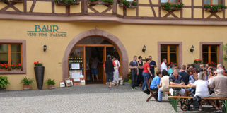 Eguisheim, France - june 19 2015 : picturesque village in summer Stock Photography