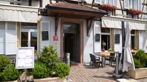 Eguisheim, France - june 19 2015 : picturesque village in summer Stock Photo