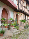 Eguisheim, France - june 19 2015 : picturesque village in summer Royalty Free Stock Photo
