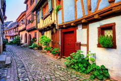 Eguisheim, l'Alsazia, Francia Fotografie Stock