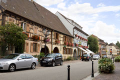 Eguisheim village in France Stock Photography
