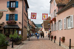 Eguisheim village in France Stock Photography