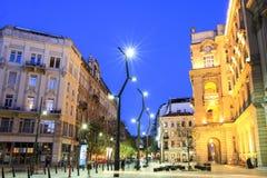 Egyetem fyrkant, i stadens centrum Budapest Arkivbilder
