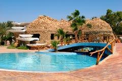 Egyp Resort - Restaurant With Pool Stock Photo