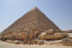 egypgreatpyramidcheops giza forntida cairo t Royaltyfri Bild