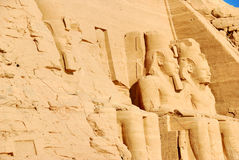 Egypitan carvings Abu Simbel Stock Photography