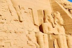 egypitan simbel för abucarvings Arkivbild