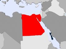egypt översikt vektor illustrationer