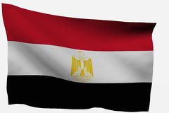 Egypt 3d flag. Isolated on white background Royalty Free Stock Photo