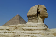 Egypt. Pyramids in Giza smooth Royalty Free Stock Images