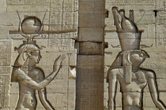 Egypt. The Philae temple near nil stock photos