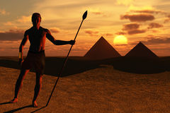 Egypt. Scene of the pyramids executed in 3D Stock Images