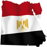 Egypt. Map of Egypt and Egyptian flag illustration Stock Photography