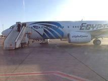 Egypt Air airplane Stock Photography