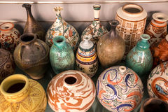 Egypt antique vase. Group of Egypt antique vase royalty free stock images