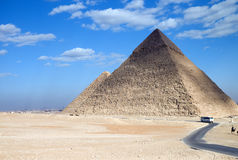 Egypt. Archaeological site of Giza, the Cheope and Chefren pyramids Royalty Free Stock Image