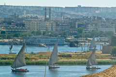 Egypt -Assouan-Boat Felucca Nile Stock Images