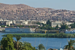 Egypt -Assouan-Boat Felucca Nile Royalty Free Stock Photo