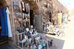 African Bazaar. Egypt, Aswan, Antiques Bazaar of African arts stock photos