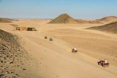 Egypt ATV. ATV riding in the desert in Egypt Royalty Free Stock Photography