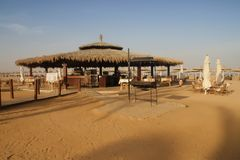 Egypt beach bar Royalty Free Stock Image