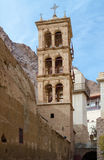 Egypt, bell tower of the monastery of St. Catherine Royalty Free Stock Photos