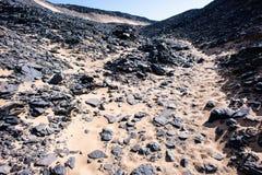 Egypt. Black Desert Stock Photo