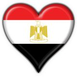 Egypt button flag heart shape Stock Images