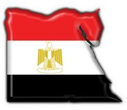 Egypt button flag map shape Stock Images