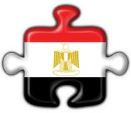 Egypt button flag puzzle shape. Egypt button flag 3d made Stock Photo