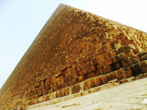 Egypt, Cairo, Cheops pyramid. Great Pyramid of Giza also known as the Pyramid of Khufu or the Pyramid of Cheops is the oldest and largest of the three pyramids Royalty Free Stock Image