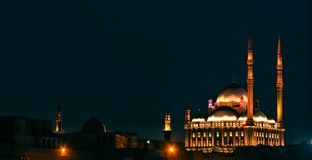 Egypt cairo citadel night view