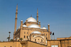 Egypt, Cairo. Mohammed Ali Mosque. The Mohammed Ali Mosque in Cairo, Egypt with blue sky Royalty Free Stock Photography