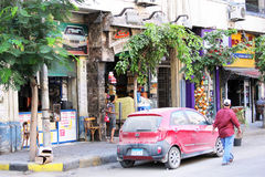 Egypt cairo street view Royalty Free Stock Images