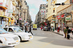 Egypt cairo street view in africa Stock Photos