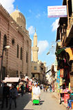 Egypt cairo street view in africa Stock Images