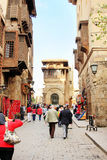 Egypt cairo street view in africa Royalty Free Stock Photo