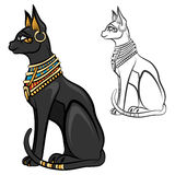 Egypt cat goddess bastet vector Royalty Free Stock Photography