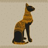 Egypt cat. Vector graphic illustration design art Stock Images