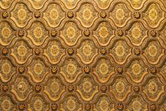 Egypt ceiling pattern. Luxurious golden ceiling pattern in Cairo Egypt royalty free stock photos