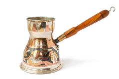 Egypt coffee pot isolated Royalty Free Stock Images